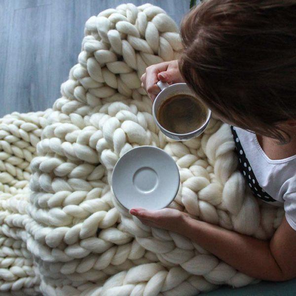 Tlustá deka z merino vlny
