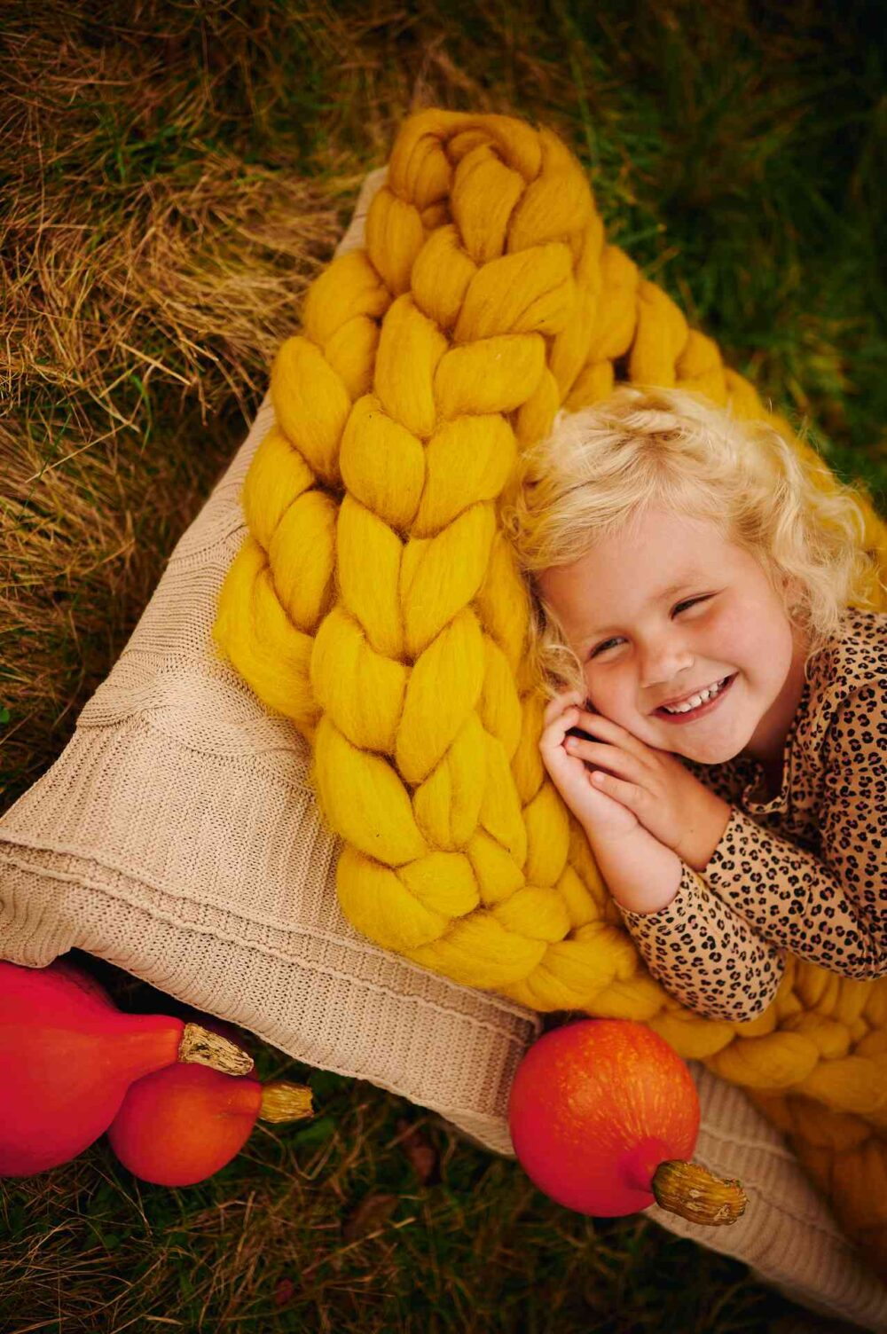Obří pletená deka Merino