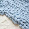 Merino deka ledově modrá