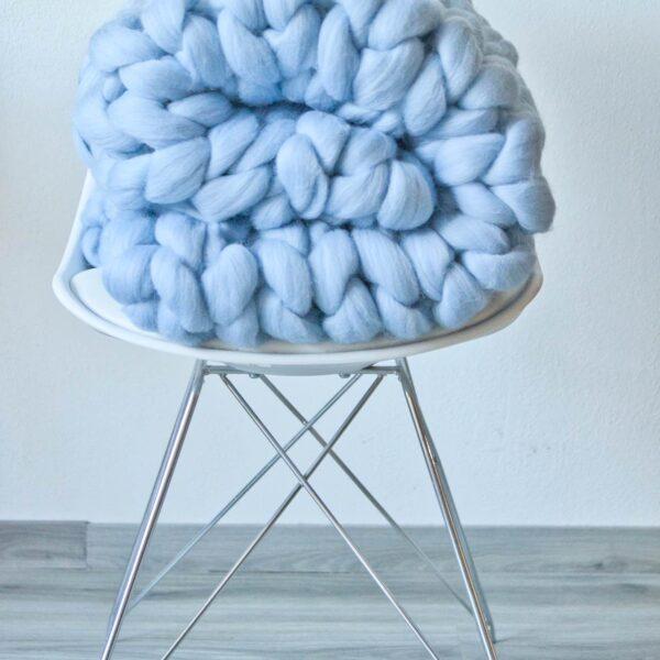 Heboučká tlustá pletená deka z merino vlny