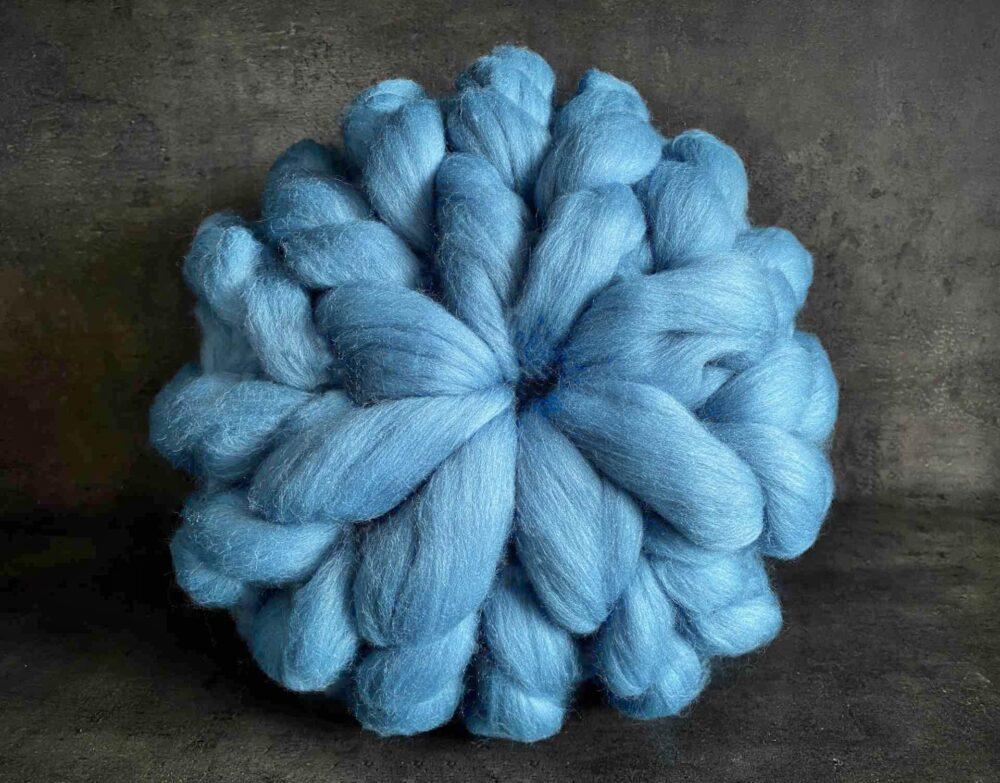 Puffovaný polštář – modrá