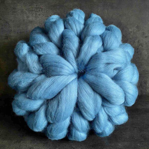 Puffovaný polštář - modrá